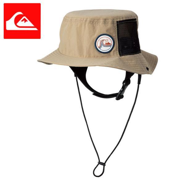 クイックシルバー サーフハット UVカット 帽子 HAT 紐付き ベージュ QUIKSILVER QSA211751