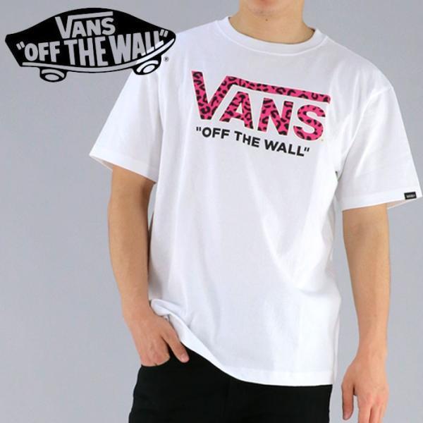 「メール便対応」バンズ Tシャツ VANS 半袖Tシャツ VA18SS-MT14 ロゴT ヒョウ柄ロゴ upsports