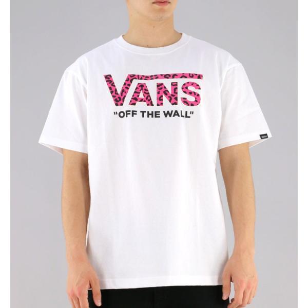 「メール便対応」バンズ Tシャツ VANS 半袖Tシャツ VA18SS-MT14 ロゴT ヒョウ柄ロゴ upsports 02