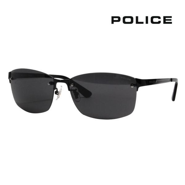 ポリス POLICE SPLA63J 530P 60 メガネフレーム サングラス チタン メタル リムレス ツーポイント 縁なし LANE 偏光レンズ ポラロイズド