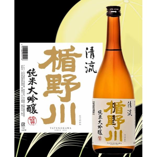 楯野川 純米大吟醸 清流720ml 山形県 日本酒 urakawa-2020 02