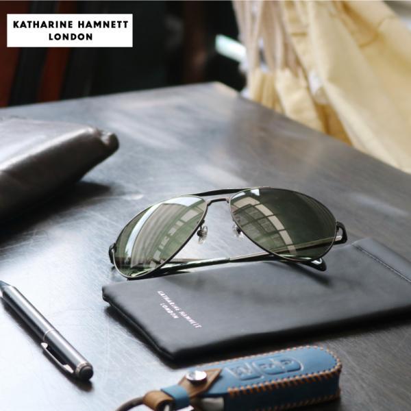 サングラス キャサリンハムネット  KATHARINE HAMNETT KH914 3 GR 63 専用ソフトケース付 レディース メンズ 正規品・保証対応