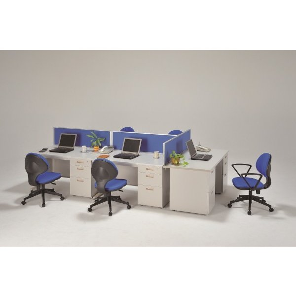 2段,3段 両袖机 オフィスデスク 幅1400×奥行700×高700 ニューグレー色 UO-F17|ureshii-office|03