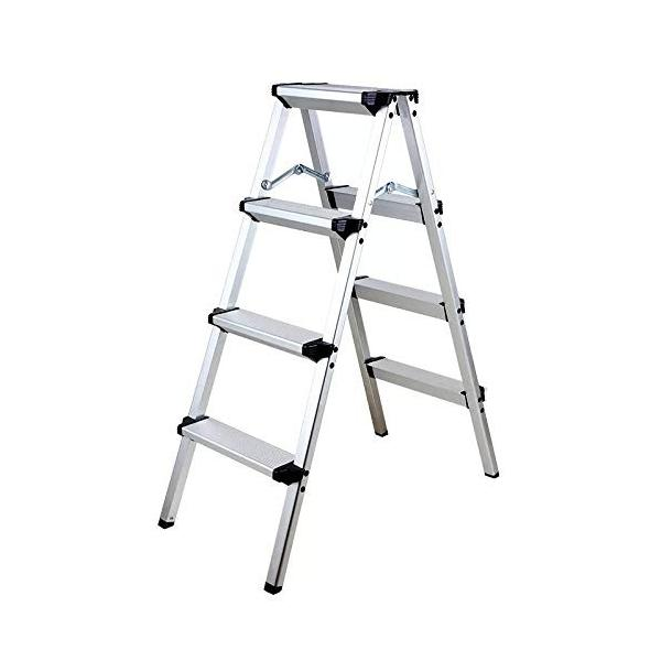 ONE STEP 軽量踏台 (定番) 1段 2段 3段 4段 踏み台 脚立 幅広 軽量 アルミ (四段)|ureteq