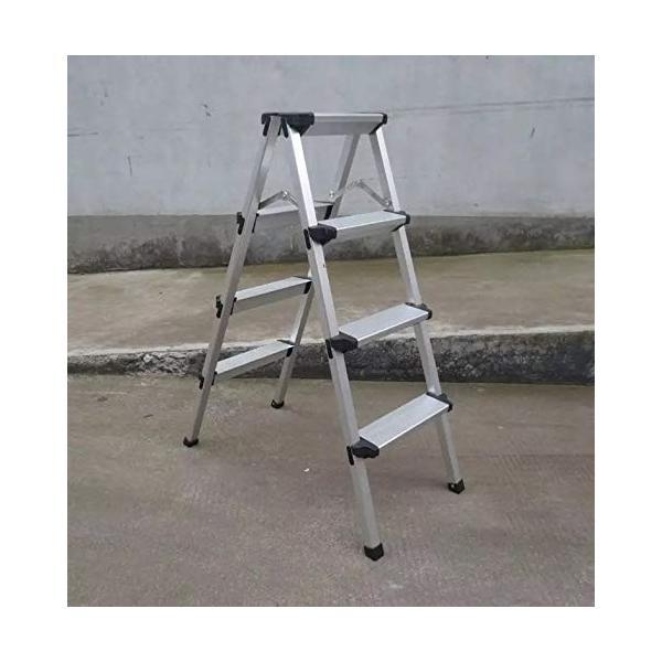ONE STEP 軽量踏台 (定番) 1段 2段 3段 4段 踏み台 脚立 幅広 軽量 アルミ (四段)|ureteq|02