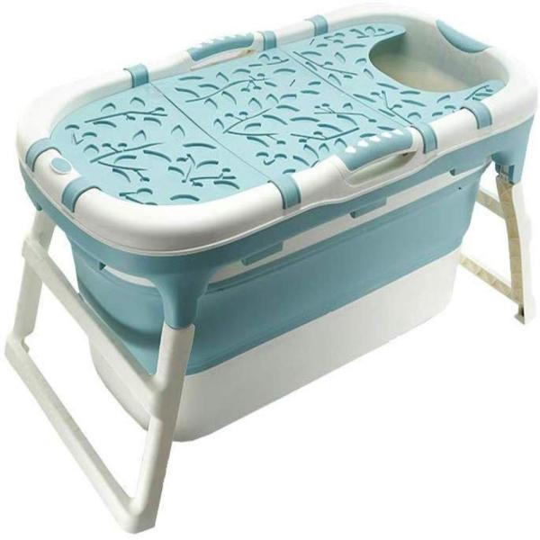 8tail マルチバスタブ 折りたたみ 簡易 浴槽 収納便利 キャンプ 介護 (Bule)|ureteq