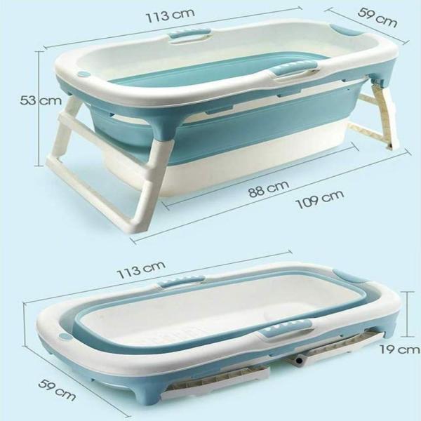 8tail マルチバスタブ 折りたたみ 簡易 浴槽 収納便利 キャンプ 介護 (Bule)|ureteq|09