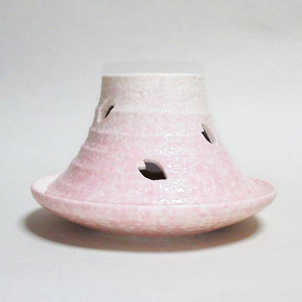 清水焼・京焼 富士山(FUJIYAMA) 香炉(赤)