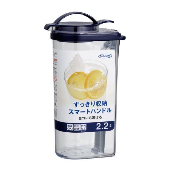 岩崎 冷水筒 ブルー 2.2L タテヨコ・ハンドルピッチャー ネクスト K-1297NB|urtra-c-mall