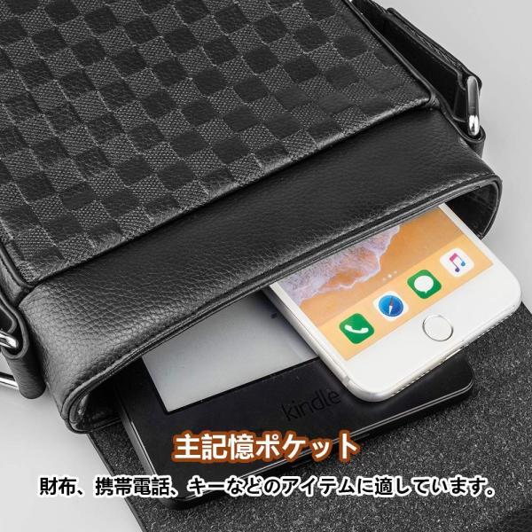 SPAHER メンズ カバン ショルダーバッグメンズ 革レザー 肩掛けバッグ 縦型 手提鞄 iPad収納かばん 紳士 ビジネス バッグ 防水 バッグ メンズ 2色 (ブラック-小|urtra-c-mall|04
