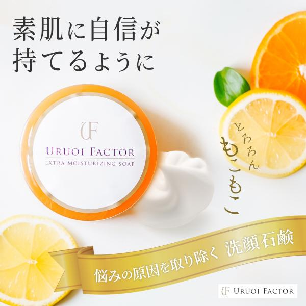 洗顔せっけん フルボ酸 スクワラン配合 無添加 弱アルカリ性 UFソープ100g|uruoi-factor