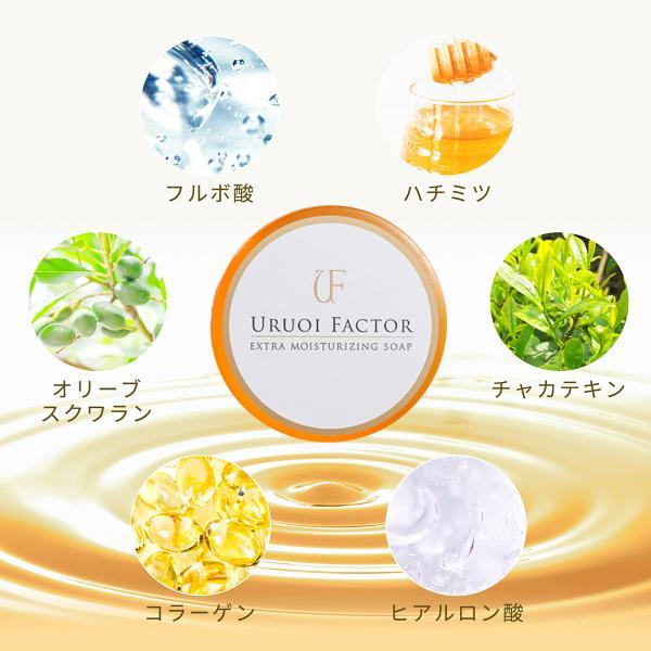 洗顔せっけん フルボ酸 スクワラン配合 無添加 弱アルカリ性 UFソープ100g|uruoi-factor|06