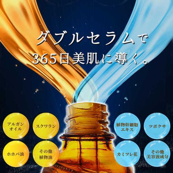 美容液 リンゴ幹細胞エキス アルガンオイル配合 新感覚の2層式美容液 UFダブルセラム20ml|uruoi-factor|02