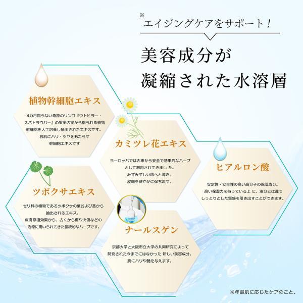 美容液 リンゴ幹細胞エキス アルガンオイル配合 新感覚の2層式美容液 UFダブルセラム20ml|uruoi-factor|03