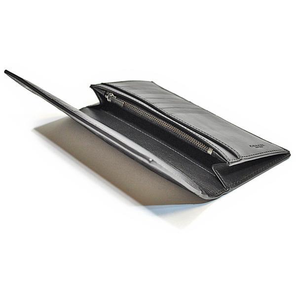 61798c5d6001 ... コーチ COACH 財布 長財布 メンズ F75365 BLK シグネチャー クロスグレイン レザー スリム ブレスト ポケット ウォレット