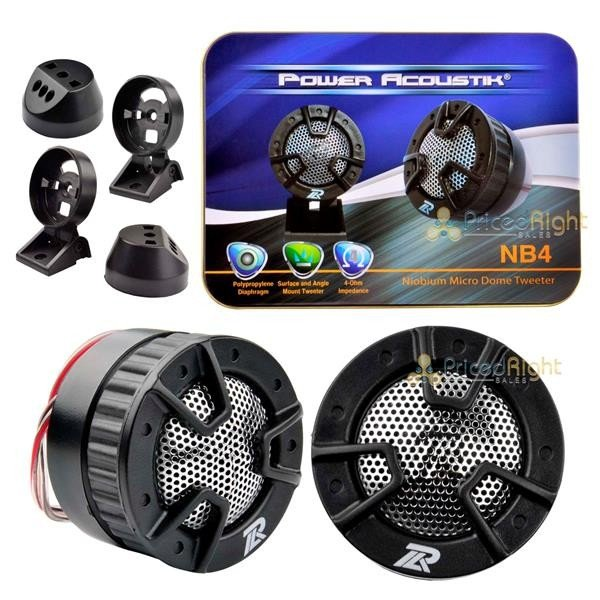 "NEW PRECISION POWER PPI T.2 1/"" NIOBIUM MICRO DOME TWEETERS CAR STEREO TWEETER PR"
