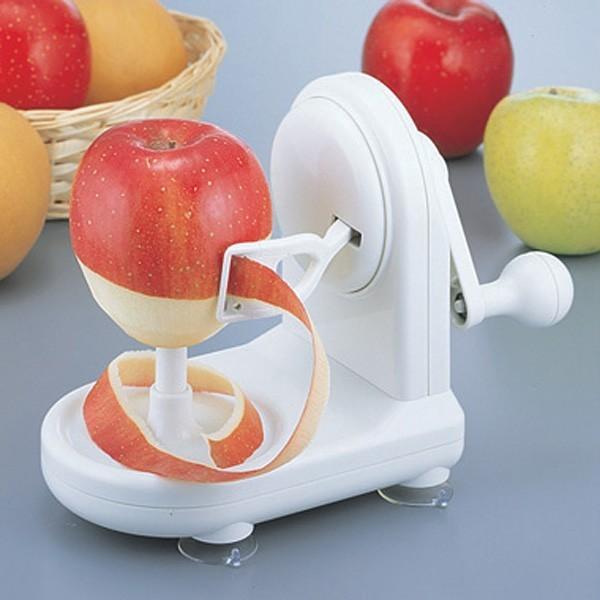 リンゴ皮剥き器 林檎 皮 剥く 回転式|usagi-shop