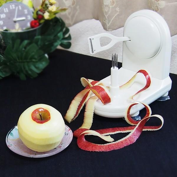 リンゴ皮剥き器 林檎 皮 剥く 回転式|usagi-shop|04