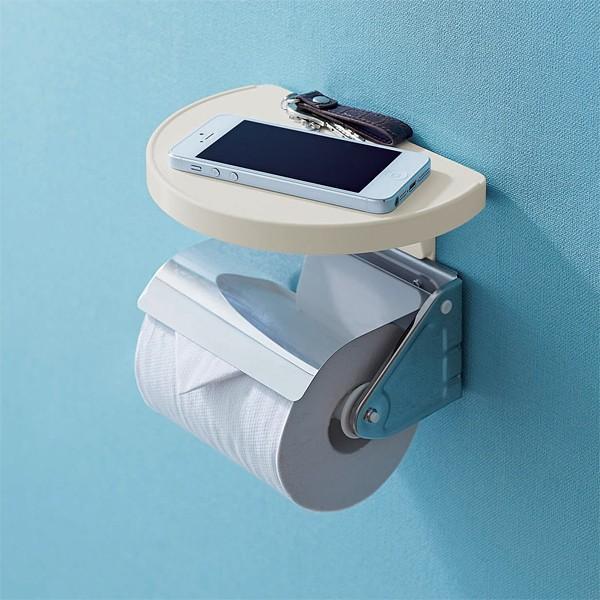 トイレ 小物置き 棚 トイレットペーパーホルダー設置|usagi-shop|04