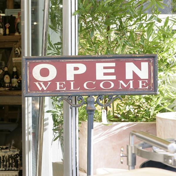 看板 オープン OPEN 開店 クローズ CLOSE 閉店 スタンド おしゃれ アンティーク レトロ カフェ 雑貨屋 レストラン 入り口