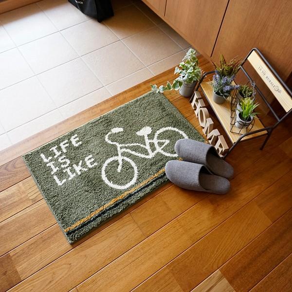 玄関マット おしゃれ 室内 屋内 猫 自転車 柄|usagi-shop|04