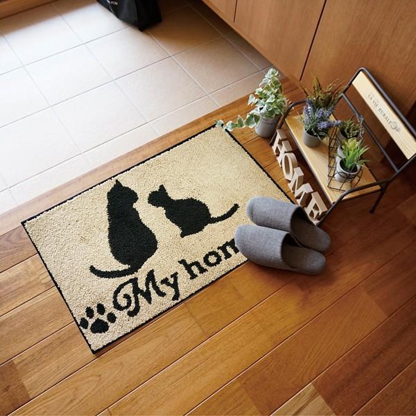 玄関マット おしゃれ 室内 屋内 猫 自転車 柄|usagi-shop|05