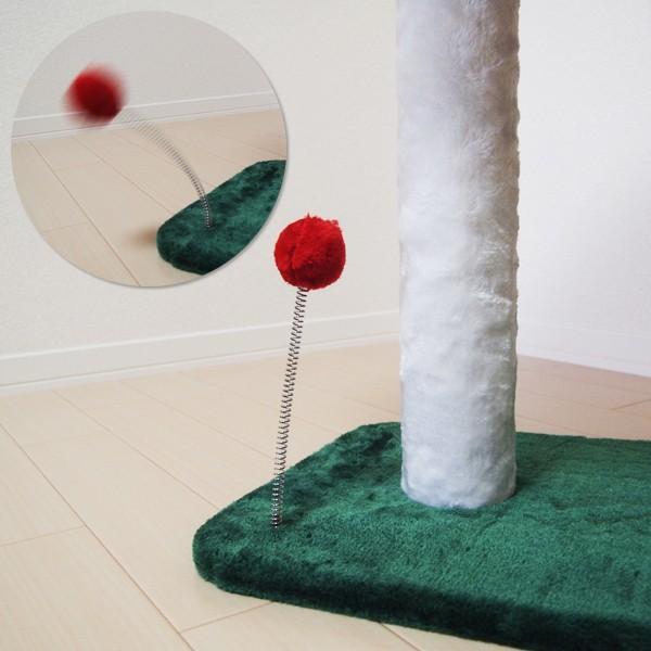 キャットハウス つめとぎ 2段 滑り台 すべり台 キャットタワー コンパクト スリム 省スペース 猫じゃらし ネコ もこもこ|usagi-shop|06