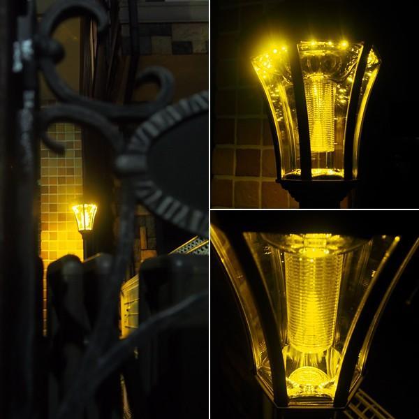街灯 ソーラー式 アンティーク 外灯 LED ソーラーライト 屋外 おしゃれ 庭 おしゃれな街灯 レトロな街灯 ledソーラー ガーデンライト ポール 埋め込み|usagi-shop|11