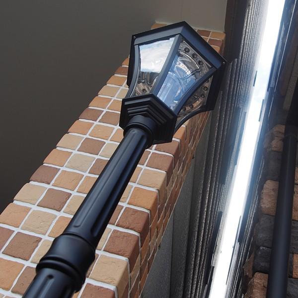 街灯 ソーラー式 アンティーク 外灯 LED ソーラーライト 屋外 おしゃれ 庭 おしゃれな街灯 レトロな街灯 ledソーラー ガーデンライト ポール 埋め込み|usagi-shop|07