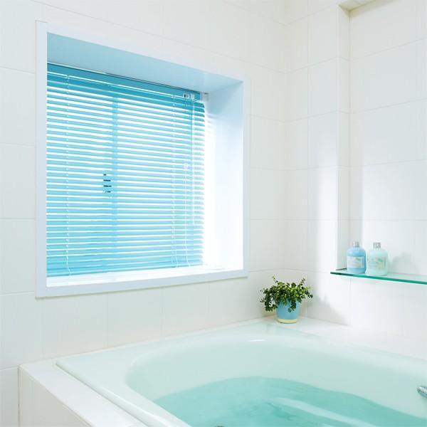 アルミブラインド お風呂 穴を開けない 窓枠 壁 突っ張り|usagi-shop