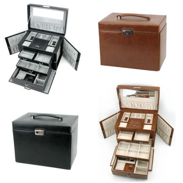 ジュエリーボックス 大容量 鍵付き 宝石箱 持ち運び コンパクト|usagi-shop|02