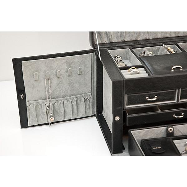 ジュエリーボックス 大容量 鍵付き 宝石箱 持ち運び コンパクト|usagi-shop|03