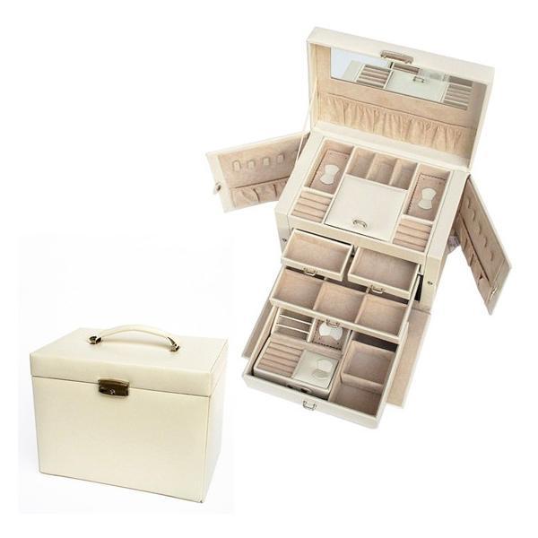ジュエリーボックス 大容量 鍵付き 宝石箱 持ち運び コンパクト|usagi-shop|04