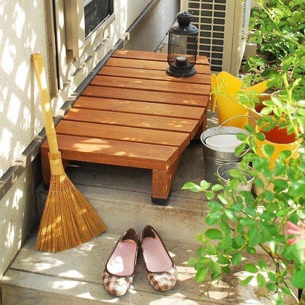 ウッドデッキ 縁側 踏み台 DIY 木製 天然木 庭 ベランダ 玄関 おしゃれ 屋外