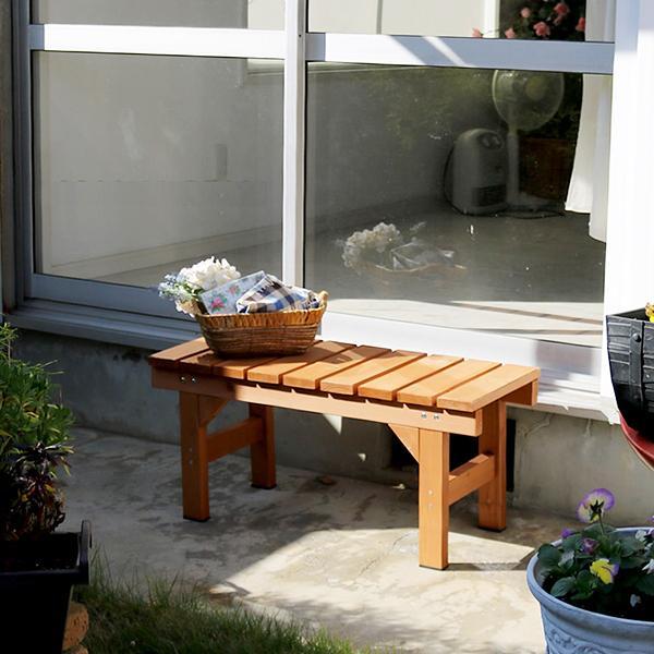 ベンチ 木製 庭 屋外 玄関 ガーデン 縁台 和風 定番 デザイン おしゃれ 椅子 腰掛け エクステリア シンプル ウッド 天然木製
