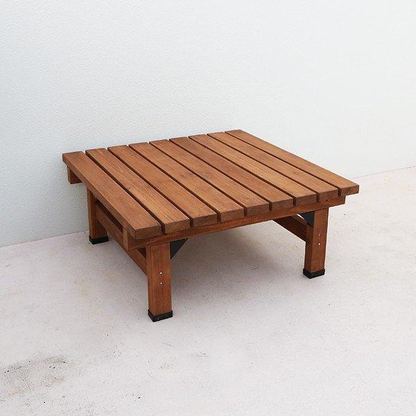 踏み台 ウッドデッキ 縁側 ステップ台 正方形 小型 小さい 木製 天然木 庭 ベランダ 玄関 おしゃれ 屋外