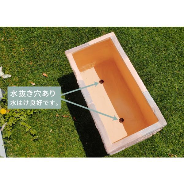プランターカバー 大型 プランター おしゃれ レンガ風 鉢 玄関 庭 屋外 usagi-shop 06