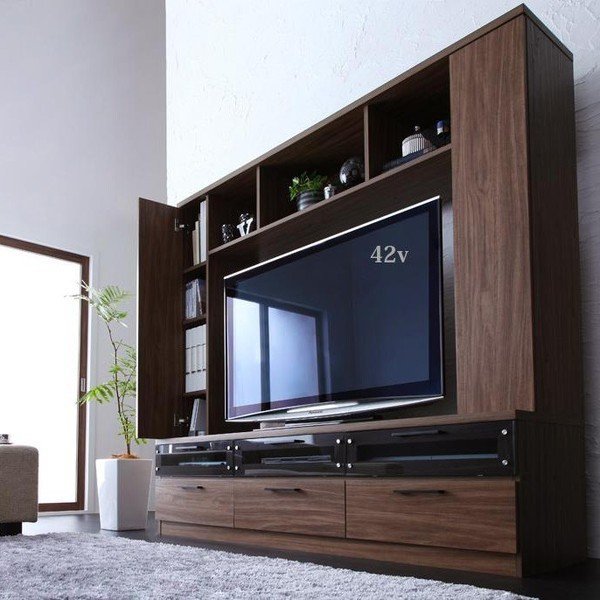 テレビ台 ハイタイプ 壁面 オープン TVボード 北欧 引き出し 大容量 tv台 ワイド|usagi-shop