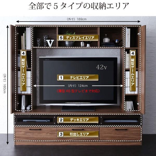 テレビ台 ハイタイプ 壁面 オープン TVボード 北欧 引き出し 大容量 tv台 ワイド|usagi-shop|04