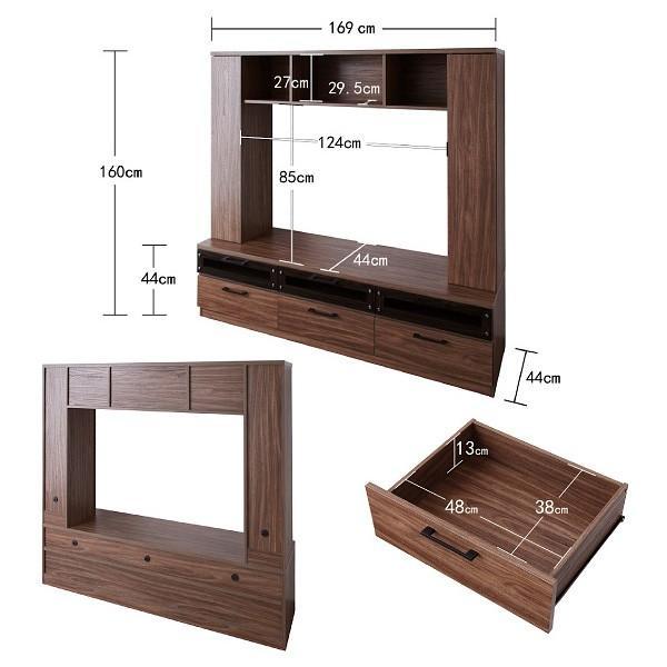 テレビ台 ハイタイプ 壁面 オープン TVボード 北欧 引き出し 大容量 tv台 ワイド|usagi-shop|06