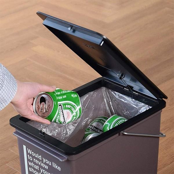 ゴミ箱 おしゃれ リビング キッチン 小型 フタつき 蓋 ふた スリム 小さい 小さめ 取っ手付き 17L ごみ箱 インテリア カフェ風|usagi-shop|05