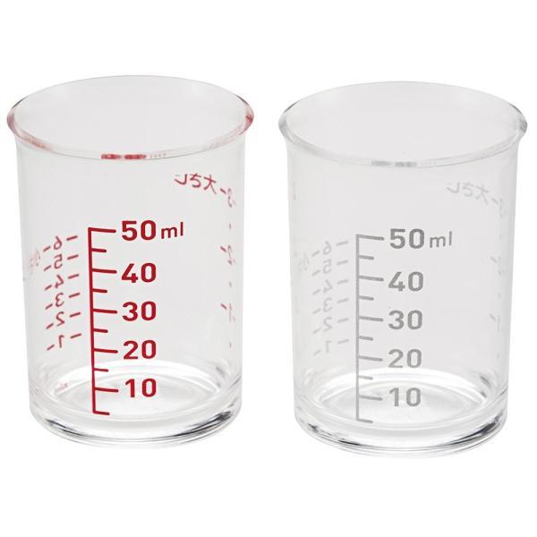計量カップ 耐熱 100度 透明 クリア 見やすい はかりやすい ml 大さじ 小さじ 目盛り 2個セット