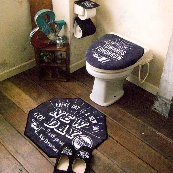 トイレふたカバー トイレマット 洗浄暖房用ふたカバー ウォシュレット ラグ おしゃれ アメカジ 西海岸 usagi-shop 05