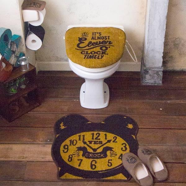 トイレふたカバー トイレマット 洗浄暖房用ふたカバー ウォシュレット ラグ おしゃれ アメカジ 西海岸 usagi-shop 06