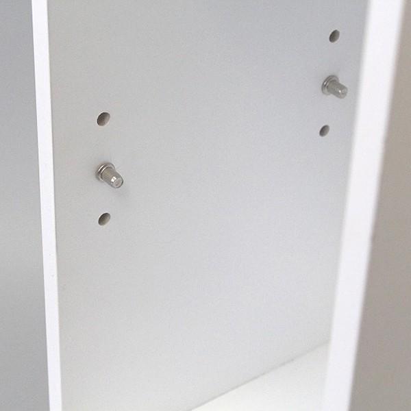 トイレラック 収納棚 スリム おしゃれ 壁 扉つき 2段 可動棚 白 ホワイト 北欧 取っ手付き|usagi-shop|04