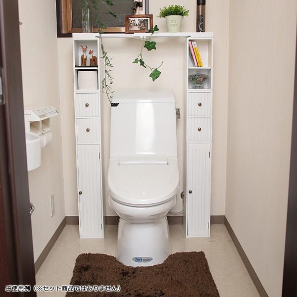 トイレラック 収納棚 スリム おしゃれ 壁 扉つき 2段 可動棚 白 ホワイト 北欧 取っ手付き|usagi-shop|09