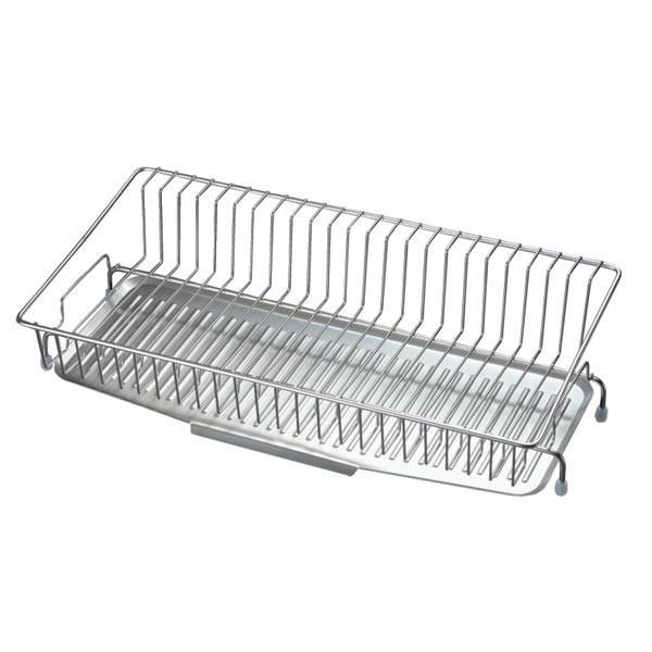 水切りラック スリム 狭いキッチン 使いやすい 水きりかご ステンレス 細い 省スペース 日本製|usagi-shop|02