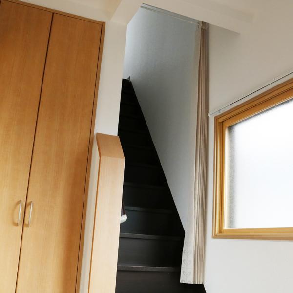 間仕切り カーテン 目隠し 長い ロングサイズ サイズ調節 おしゃれ 北欧 玄関 階段 押入れ キッチン 脱衣所 間仕切り カーテン 突っ張り棒 (別売り)|usagi-shop|03