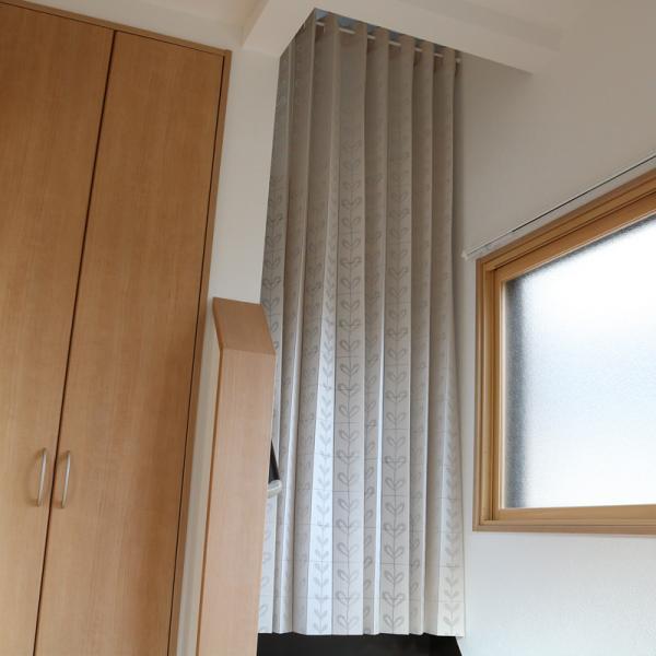 間仕切り カーテン 目隠し 長い ロングサイズ サイズ調節 おしゃれ 北欧 玄関 階段 押入れ キッチン 脱衣所 間仕切り カーテン 突っ張り棒 (別売り)|usagi-shop|05