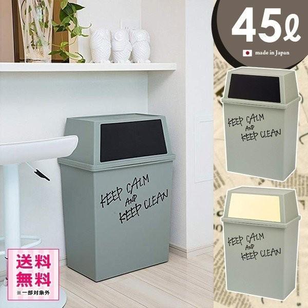 ゴミ箱 フタ付き スリム おしゃれ  45リットル 横型 キッチン リビング|usagi-shop